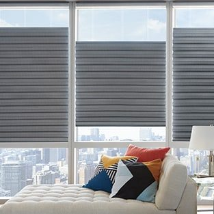 Roman Shades Solera window treatment | Baycarpet